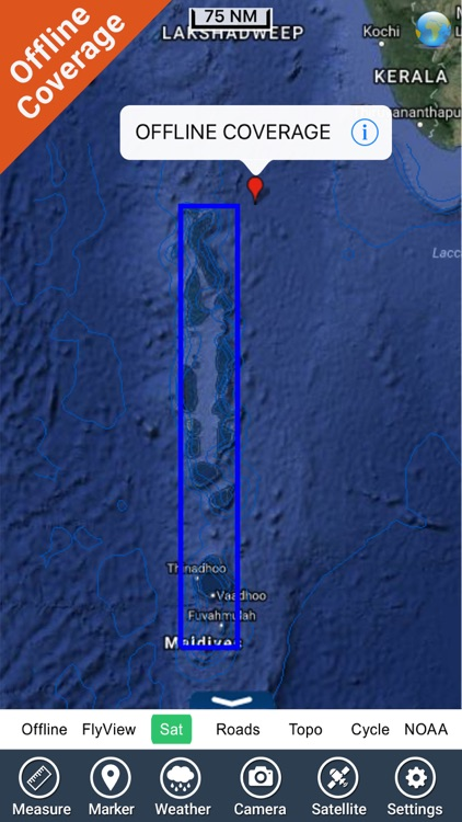 Maldives GPS Map Navigator screenshot-4