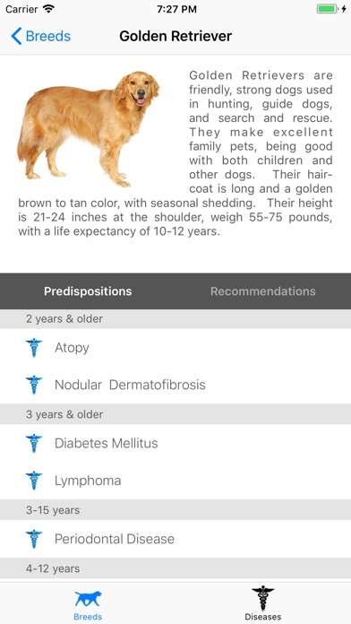 Breed Health for Dogs Screenshots