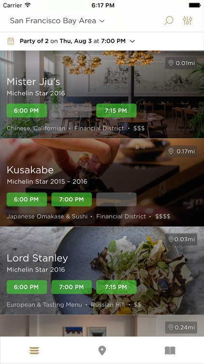 Reserve: Restaurant Reservations & Recommendations