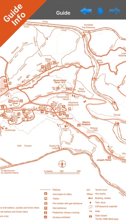 Belair National Park GPS Chart