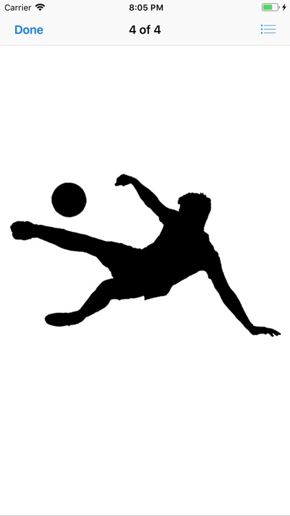 Silhouette Football Stickers screenshot-7
