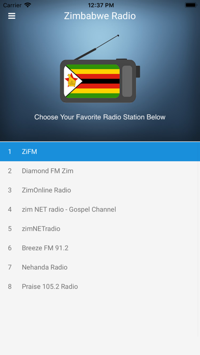 Zimbabwe Radio Station FM Live screenshot one