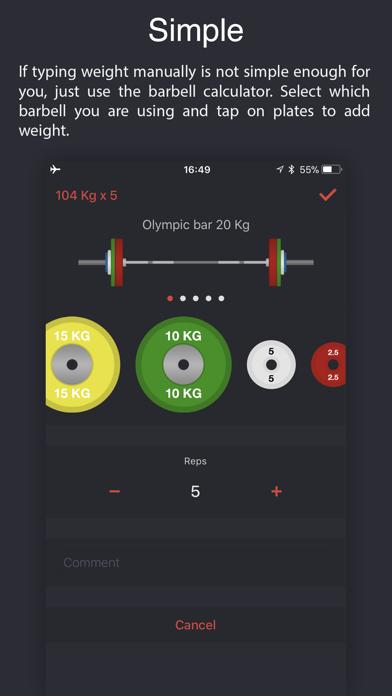 Weighter: Gym notes & progressのおすすめ画像1
