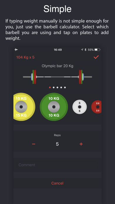 Weighter: Gym notes & progress