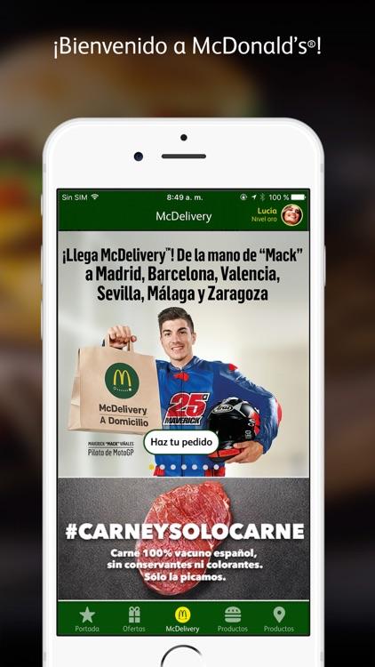 McDonald's España – McDelivery y ofertas