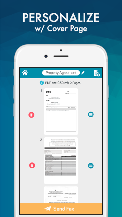 Easy Fax App - FAX from iPhone Screenshot