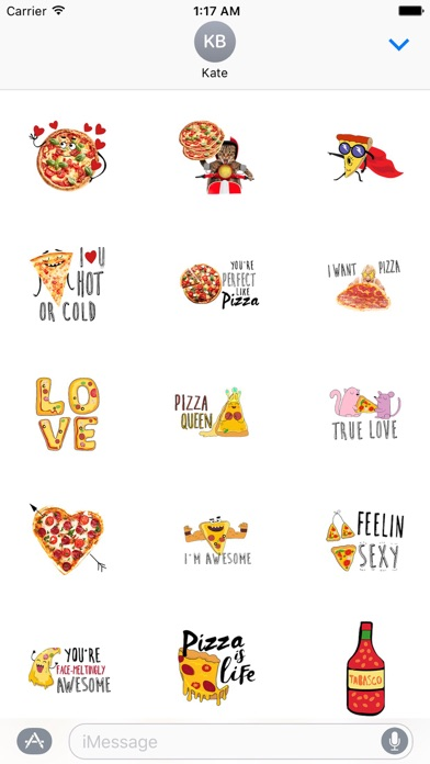 I Love Pizza Forever Sticker screenshot 1