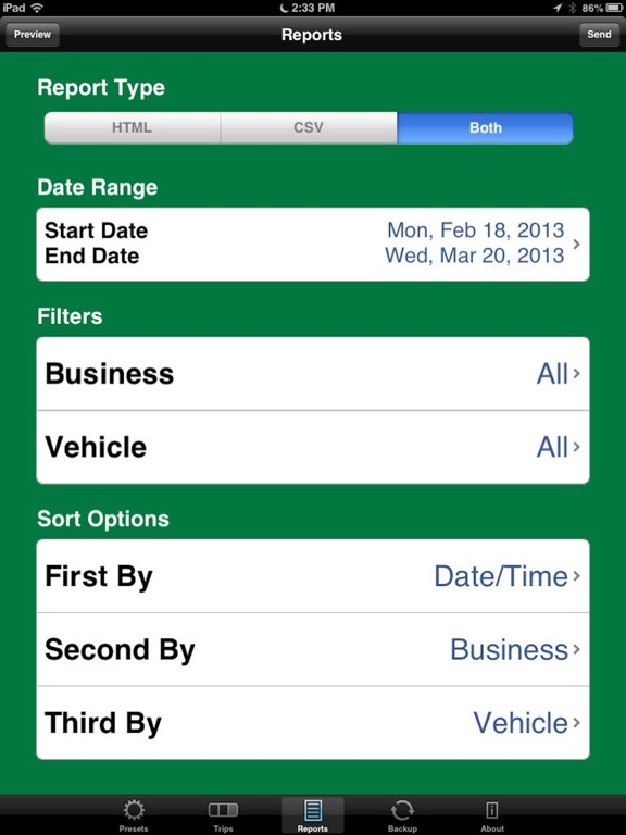 MileBug - Mileage Tracker Log Screenshots