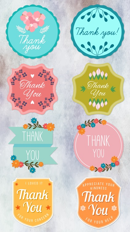 Thank You Labels Set in Minimal & Vintage Style screenshot-4