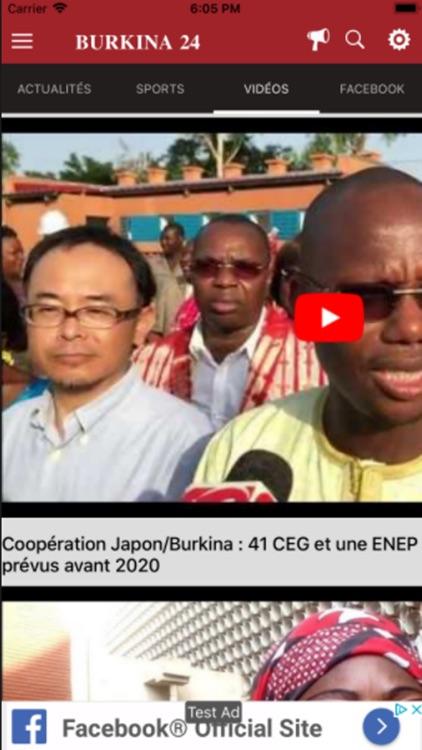 Burkina 24 app screenshot-4