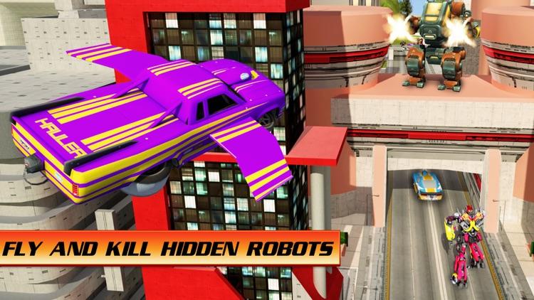 Flying Car War Hero Robot screenshot-3