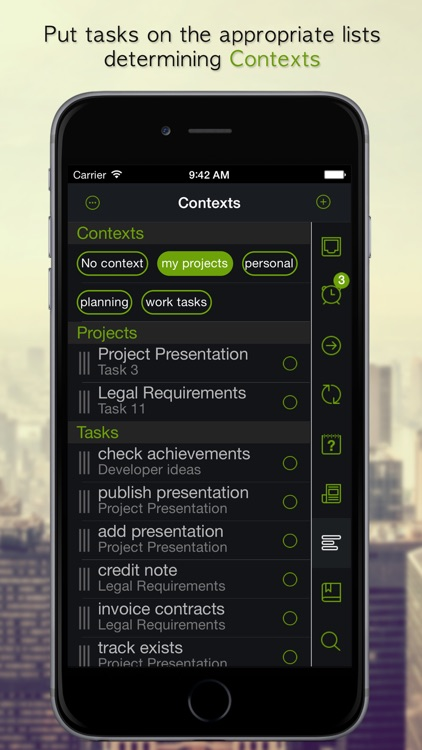 GTD Manager for iPhone