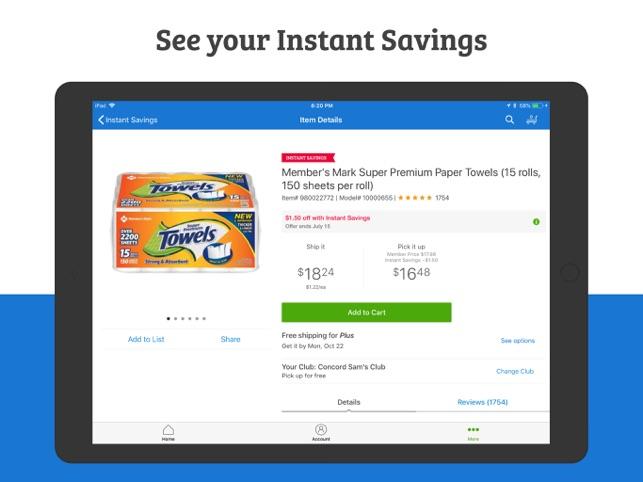 sam s club wholesale savings on the app store