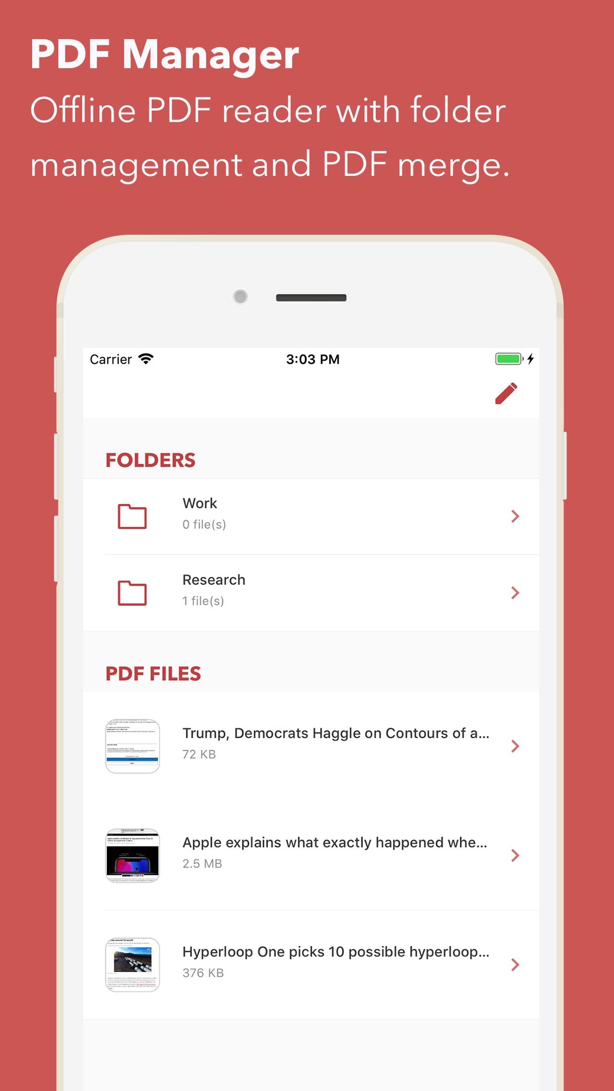 Screenshot do app Web to PDF Converter & Reader