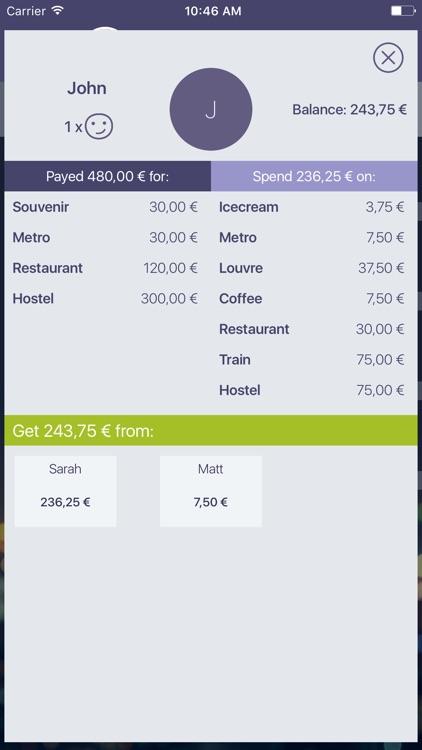 Split expenses, iou w/ friends screenshot-4