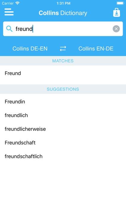 Collins English<>German screenshot-3