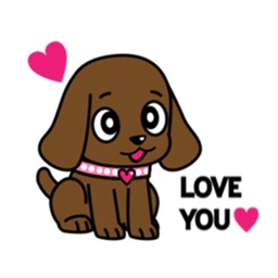 Chocolate Labrador Retriever Dog Sticker