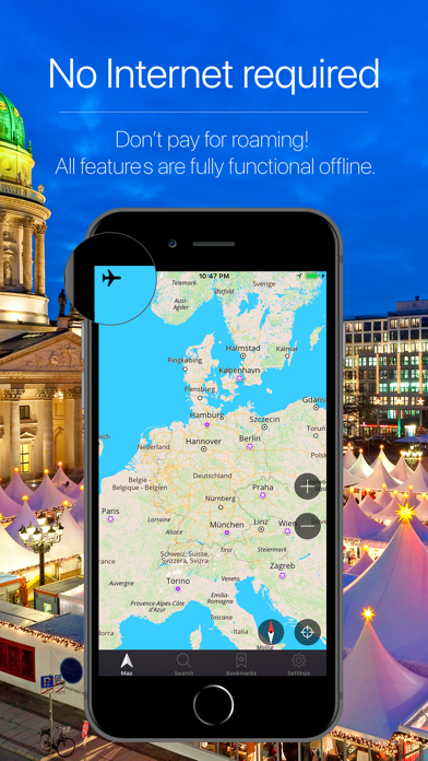 Germany Offline Navigation Screenshot