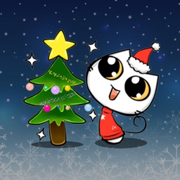 Xmas & New Year Animated Cat