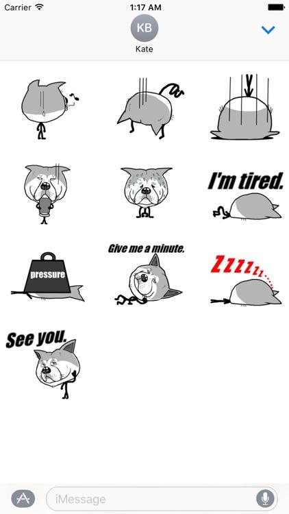 Funny Stick Dog Emoji Sticker