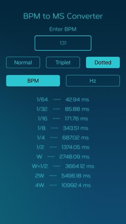 BPM to MS Converter screenshot-3