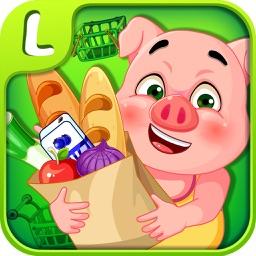 蕾昔学院-粉红小猪超市游戏