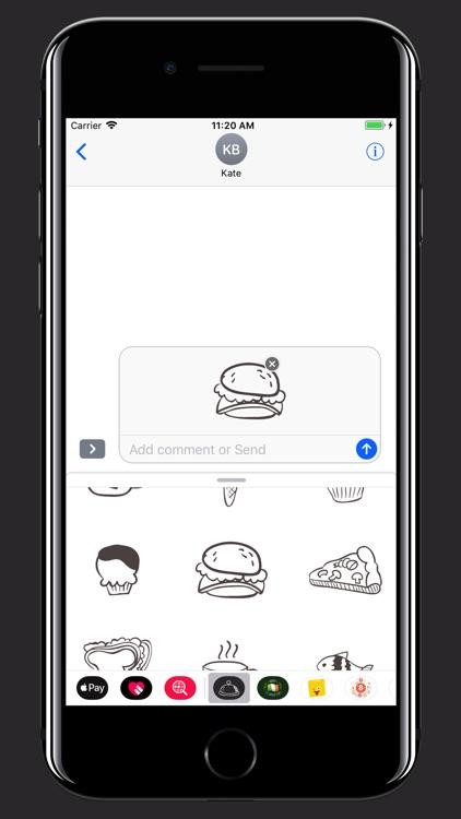Hand drawn food: Eat and Drink screenshot-3