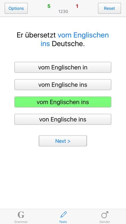 German Grammar with Tests screenshot-4