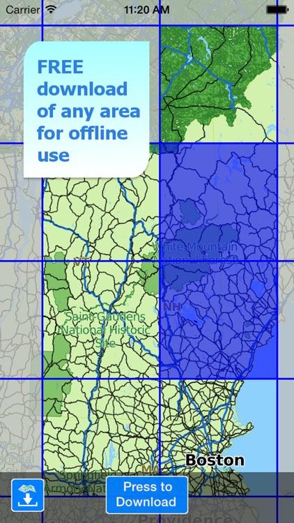 Aqua Map New Hampshire Lakes + screenshot-4