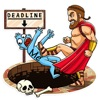 Funny Spartan Heroes Sticker