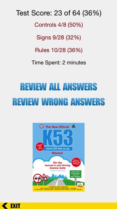 k53 drivers test score sheet pdf