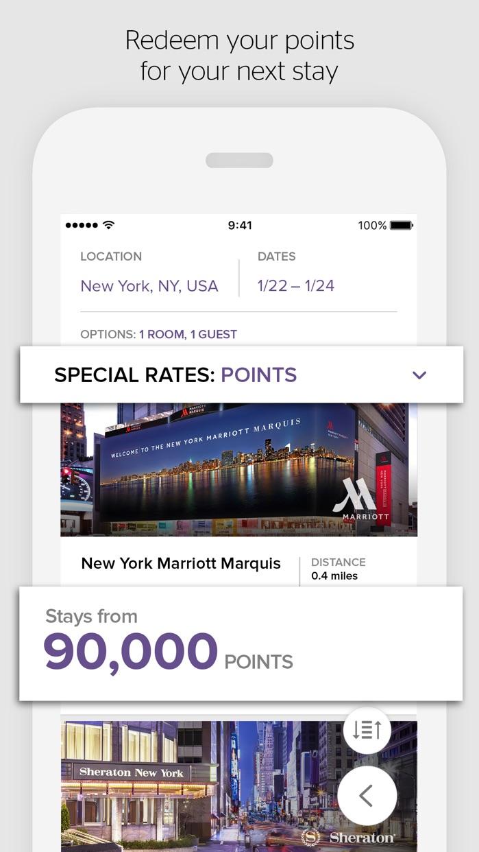 SPG: Starwood Hotels & Resorts Screenshot