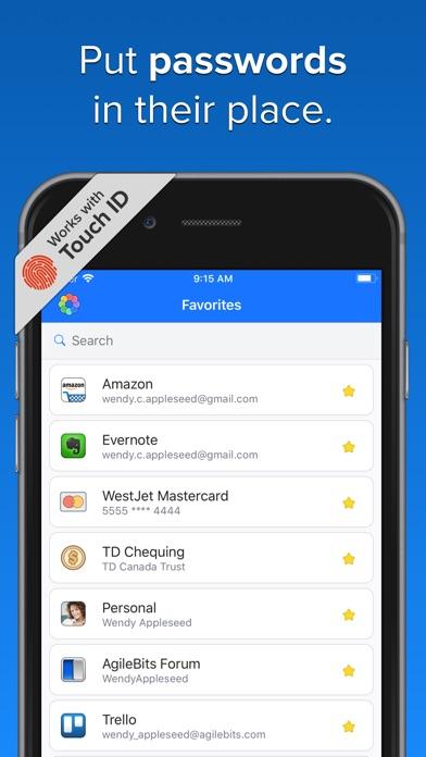 1Password Screenshot on iOS