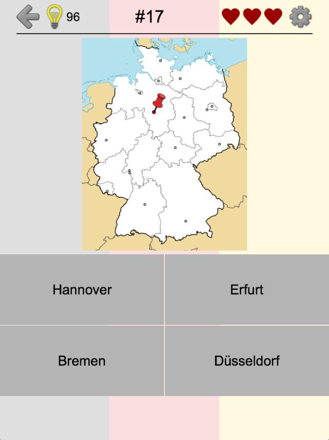 landkarte deutschland bundesländer und hauptstädte