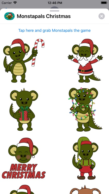 Monstapals Stickers Christmas