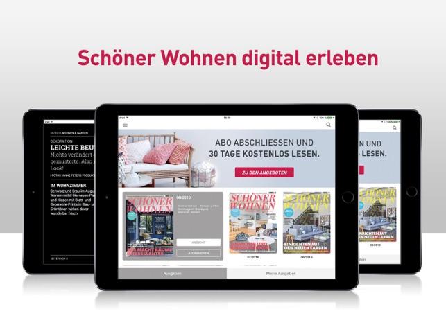 Schoener Wohnen Abo schöner wohnen magazin im app store