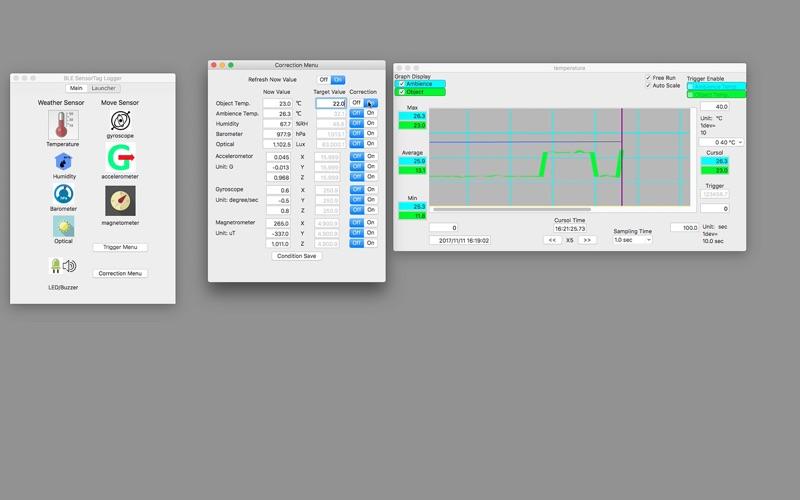 BLE SensorTag Logger Screenshot