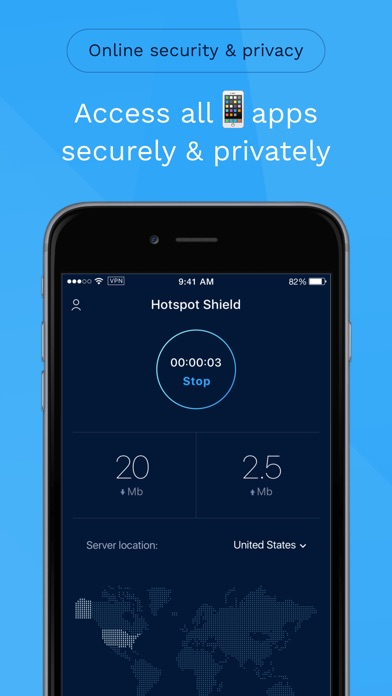 HotspotShield VPN Unlimited Privacy Security Proxy app image