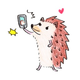Adorable Hedgehog - HedgMoji Emoji Sticker