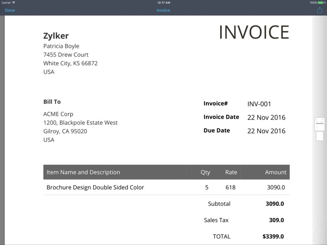 Invoice Generator Zoho On The App Store - Free invoice generator zoho
