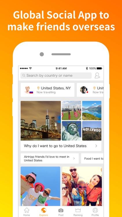Airtripp - Meet global friends screenshot-0