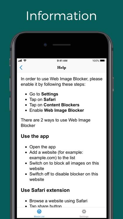 Web Image Blocker screenshot-4