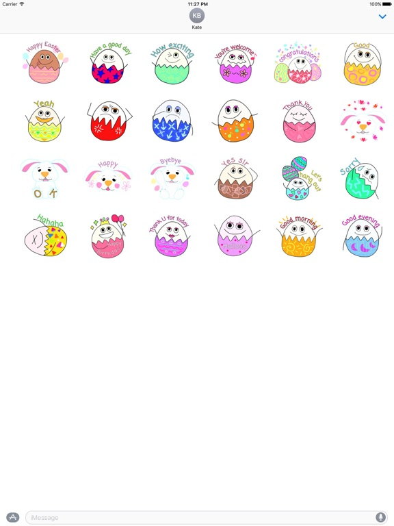 Happy Easter Egg Emoji Sticker screenshot 3