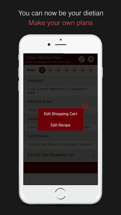 GM Diet 7 Day Meal Plan screenshot two