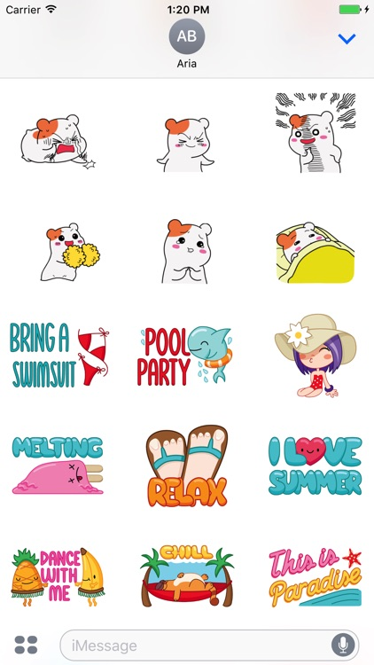 Animated Black Cat, Hamster, Summer Things Sticker screenshot-3