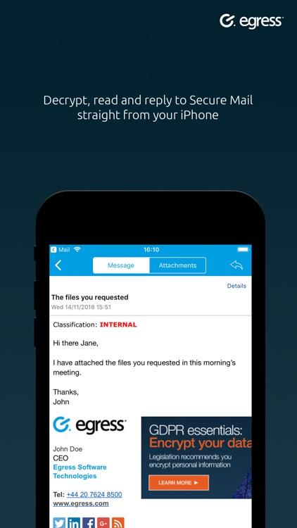 Egress Secure Mail screenshot-3