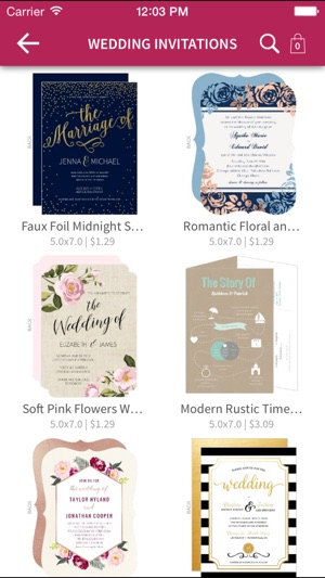 WeddingPaperie Invites more on the App Store