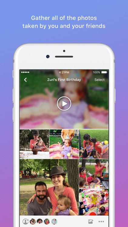 Moments–private shared albums