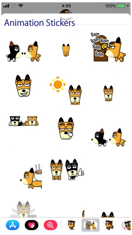 TF-Dog Animation 2 Stickers