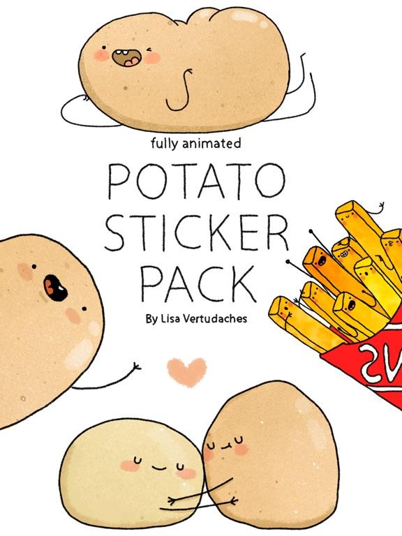 Screenshot #1 for Potato Sticker Pack